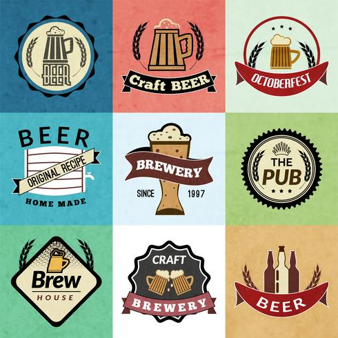 Bier retro labels vector