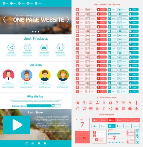 Modèle de conception de site Web vecteur