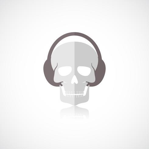 Skull with headphones icon