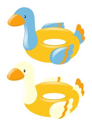 Anillos de natación en forma de pato.