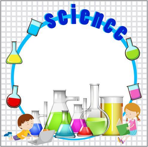Diseño de bordes con equipamiento científico.