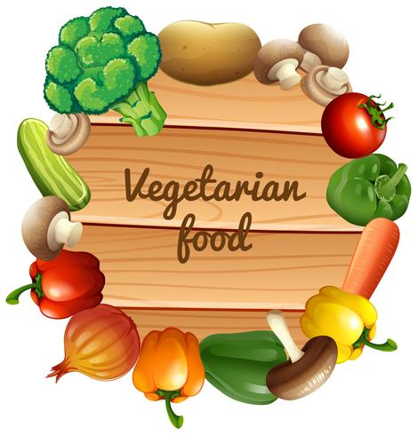 Boordmotief met verse groenten