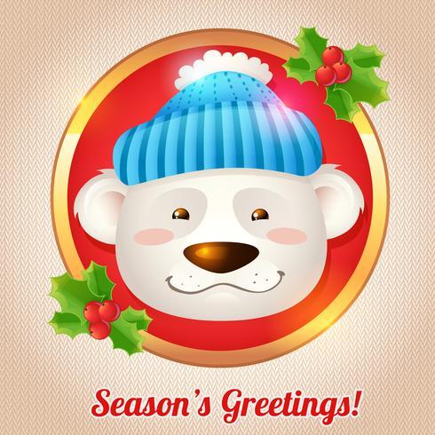 Kerst beer kaart