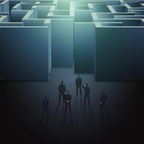 Labyrinth-Geschäftskonzept
