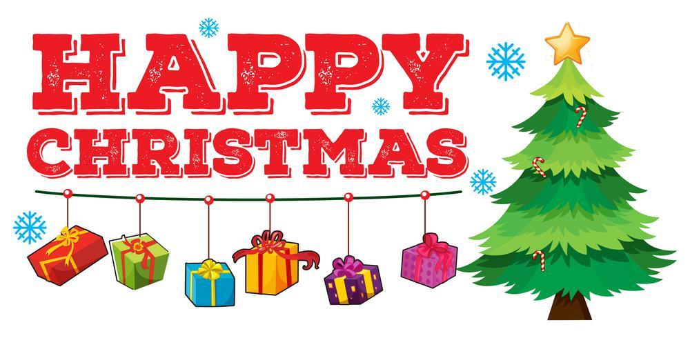 Tema navideño con árbol y adornos.