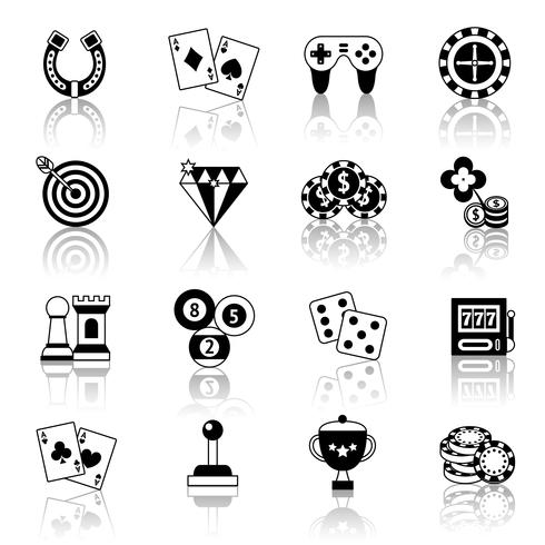 Jogo, ícones, jogo