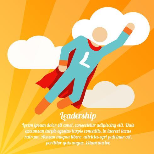 Leadership superhero poster