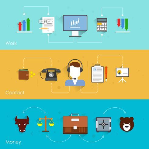 Banner di scambio finanziario