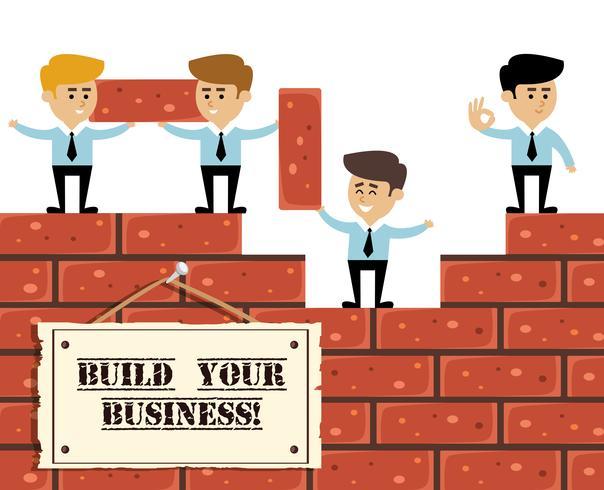 Build business concept vector