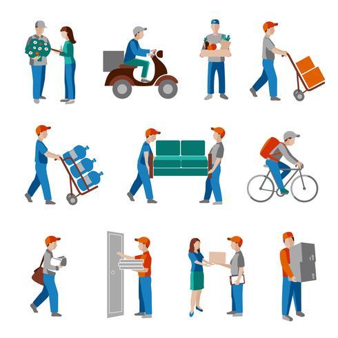 Iconos de entrega plana