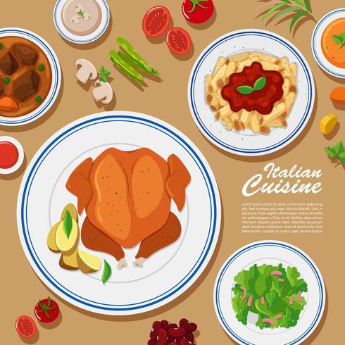 Design di poster con diversi tipi di cibo