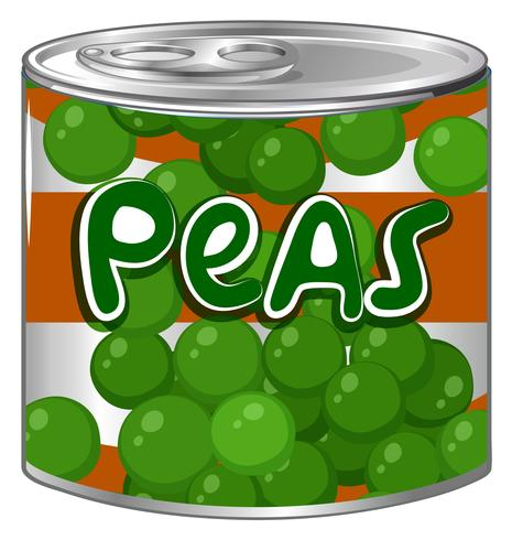 Peas in round can