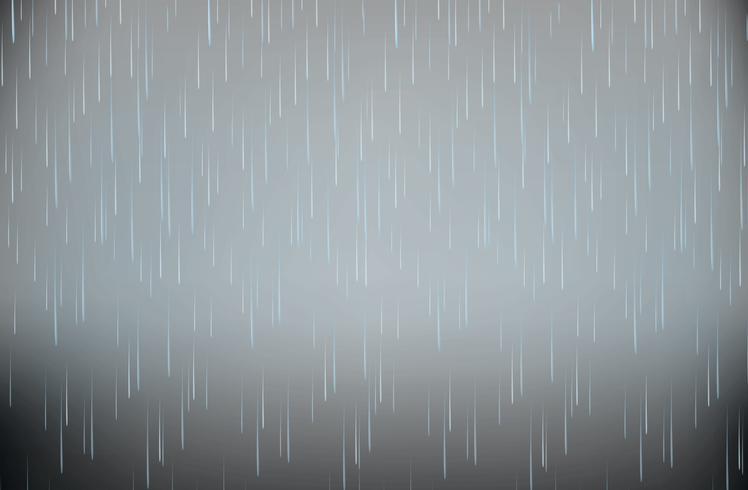 Tormenta realista lluvia fuerte vector