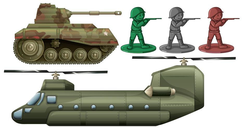Militärfahrzeuge und Spielzeug für Soldaten