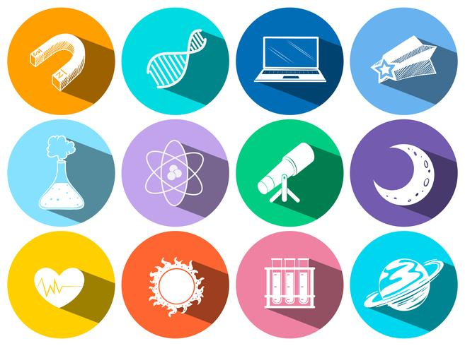 Science and technology icons