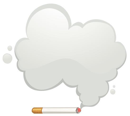 Cigarrillo con humo gris.