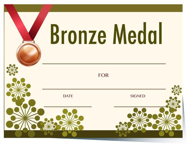 Bronzen medaille award sjabloon