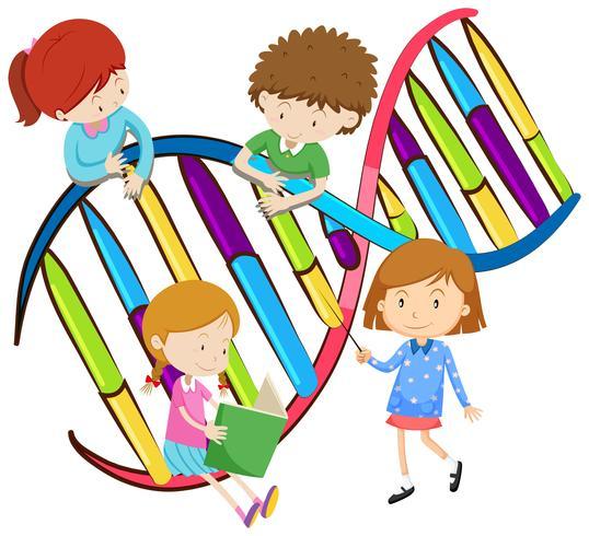 Les enfants et l'ADN humain