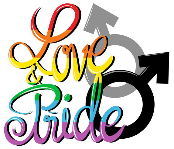 Poster di amore e orgoglio