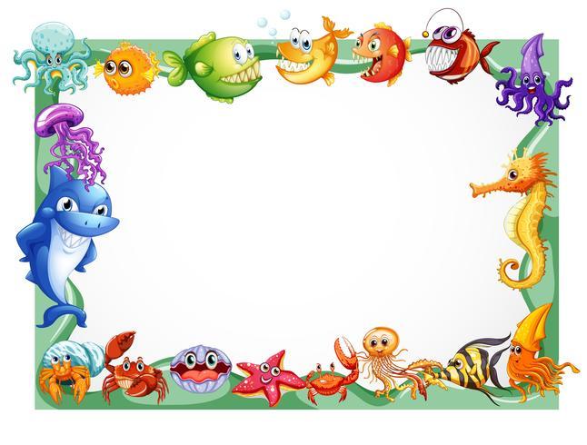 Design del telaio con animali marini
