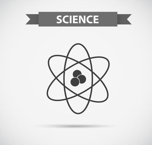 Simbolo della scienza in scala di grigi