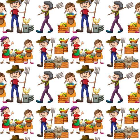 Agricultores sem costura e produtos frescos