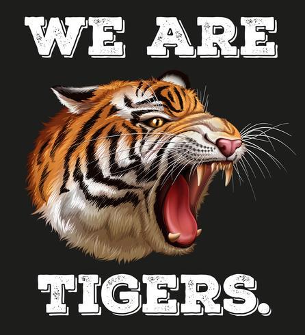 Cabeça de tigre no cartaz