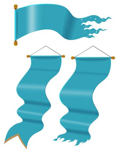 Blauwe vlaggen in drie ontwerpen