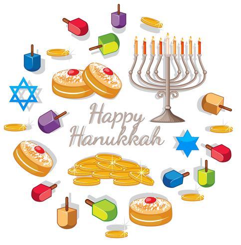 Glad Haunkkah med olika element för festivalen