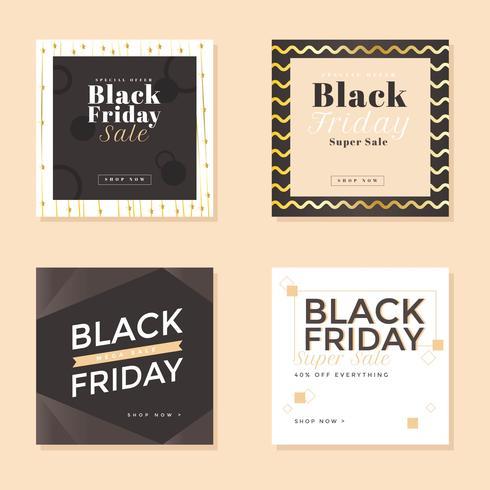 Black Friday-Social Media-Beitragsvektor