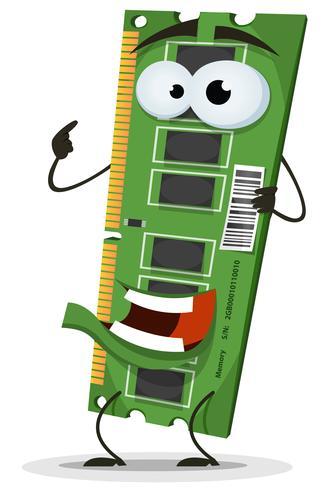 Caractère de la carte mémoire RAM
