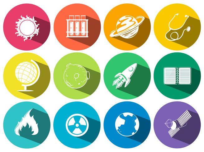 Iconos de ciencia y tecnología