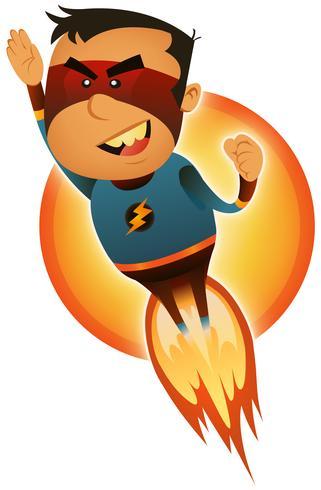 supereroe comico che esplode vettore