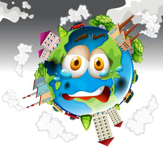 Inquinamento atmosferico dalle fabbriche sulla Terra