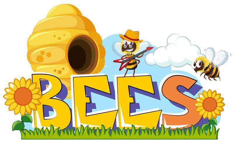 Mot design pour les abeilles