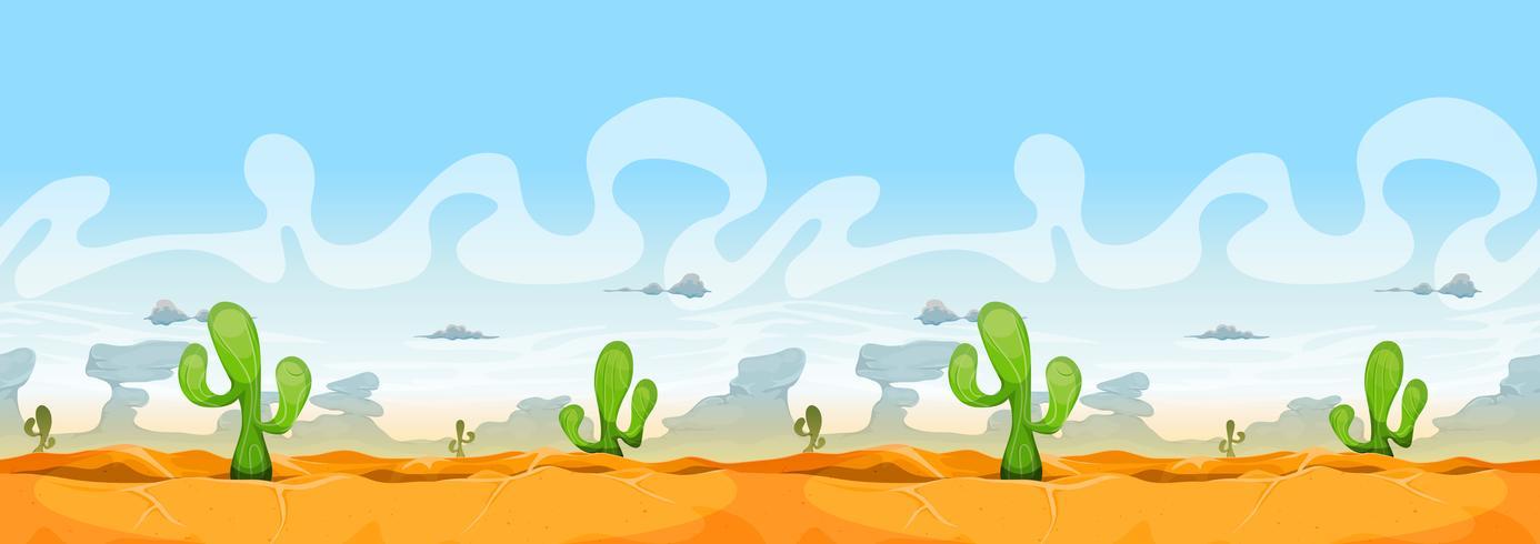 Nahtlose westliche Wüstenlandschaft für Ui-Spiel