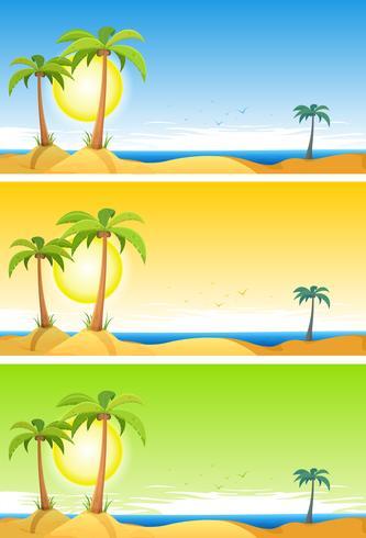 Conjunto de praia tropical de verão
