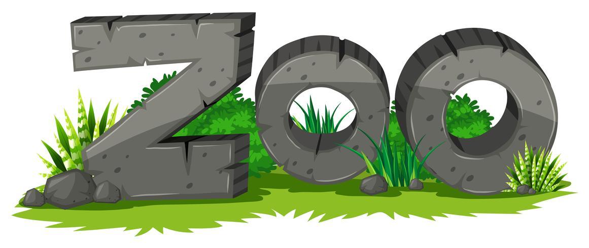 Signe de zoo en pierre