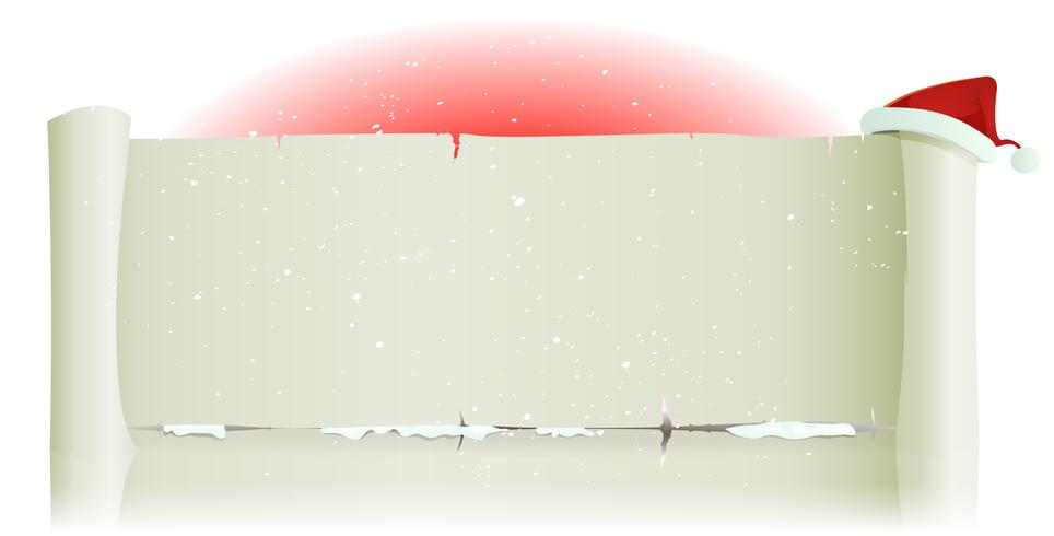 Santa Claus Hat On Merry Christmas Parchment Background vector