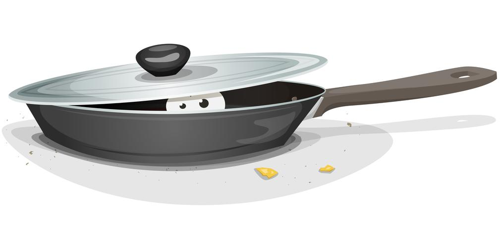 Mouse Or Cat Inside Kitchen Stove vector