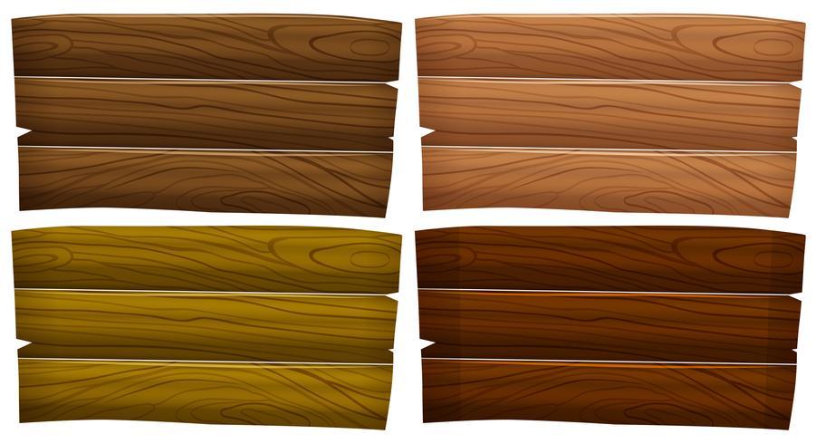Lege houten uithangborden