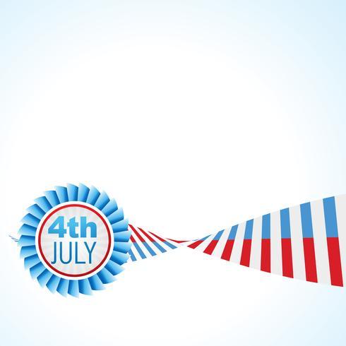 conception de vecteur de drapeau américain