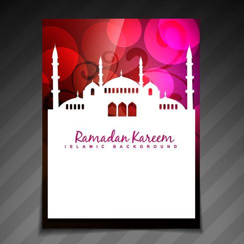 islamitische festival sjabloon