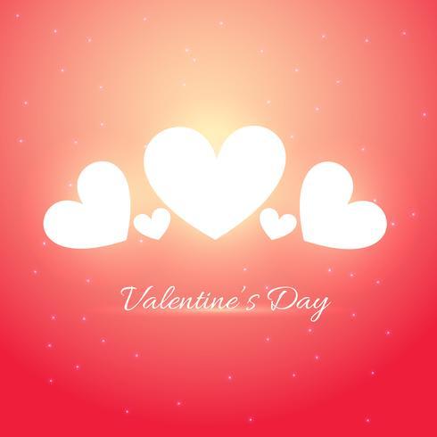 illustration de belle carte de Saint Valentin