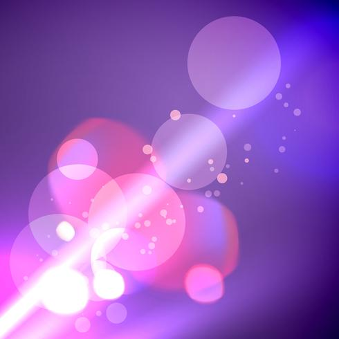 illustratie van glanzende bokeh lichten