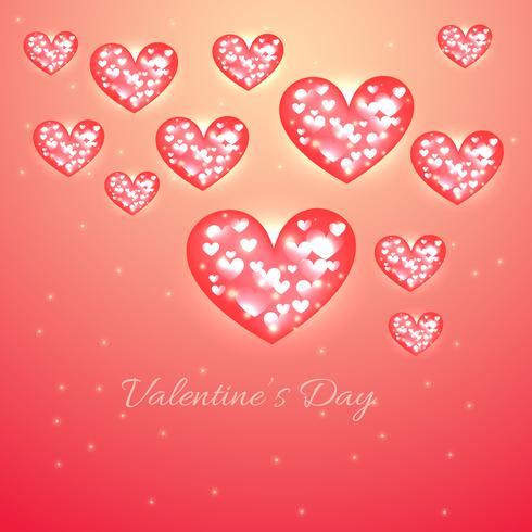 fondo del cuore di giorno di San Valentino