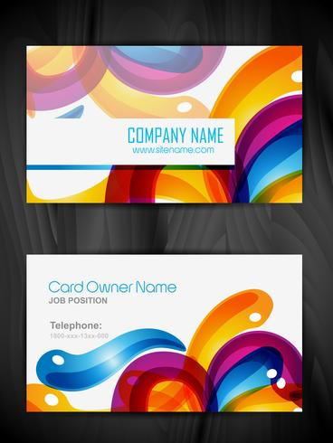 colorful business card template vector