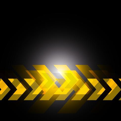 freccia gialla a sfondo nero