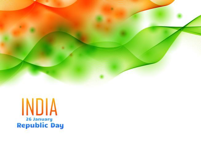 indian republic day design am 26. januar mit welle gemacht vektor