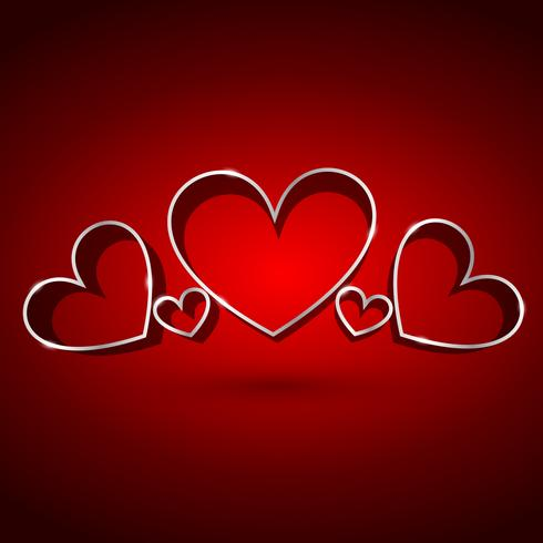 aantrekkelijke achtergrond van harten